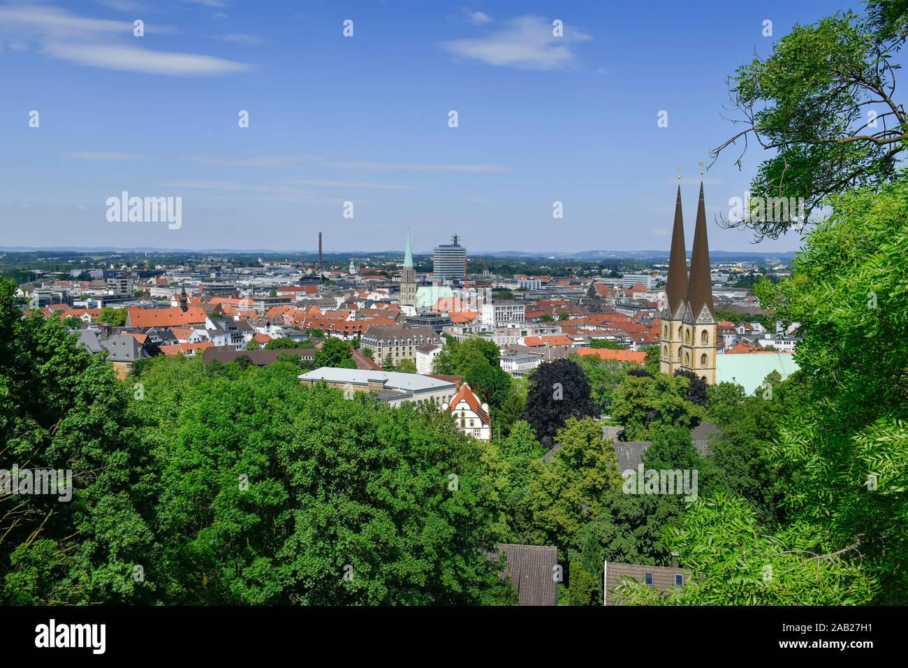 Stadtpanorama, Bielefeld, Nordrhein-Westfalen, Deutschland Stock Photo
