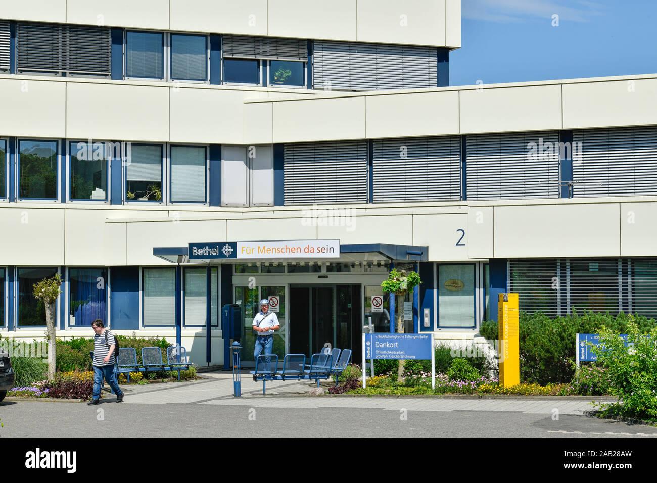 Dankort, ProWerk, Von Bodelschwinghsche Stiftungen Bethel, Bielefeld, Nordrhein-Westfalen, Deutschland Stock Photo
