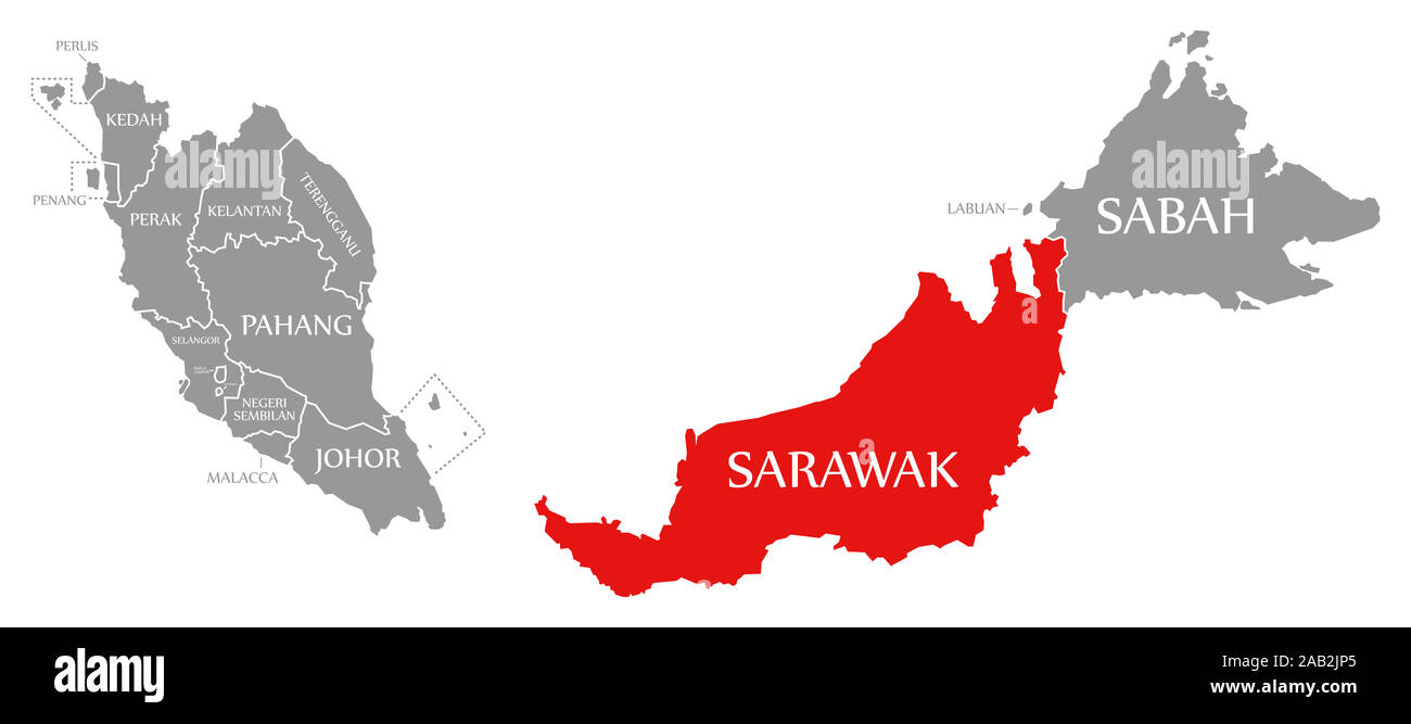 Picture of: Malaysia Map States High Resolution Stock Photography And Images Alamy