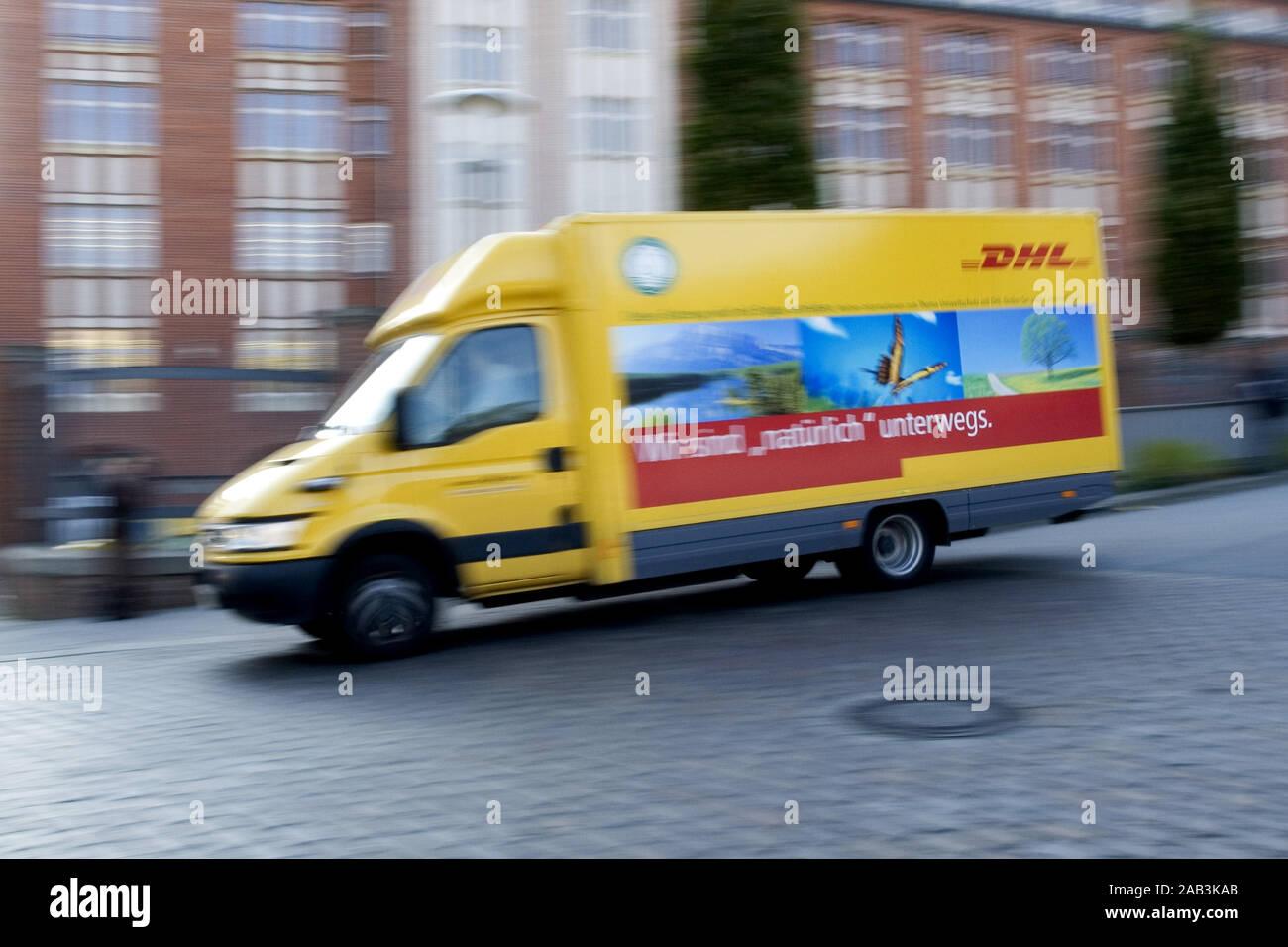 DHL Lieferwagen Stock Photo
