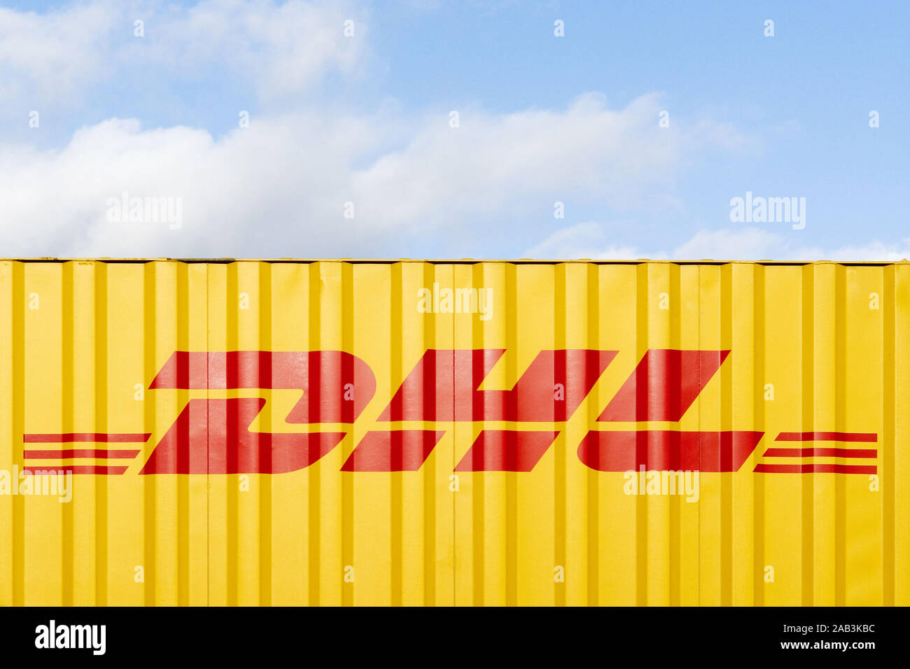 DHL Container Stock Photo