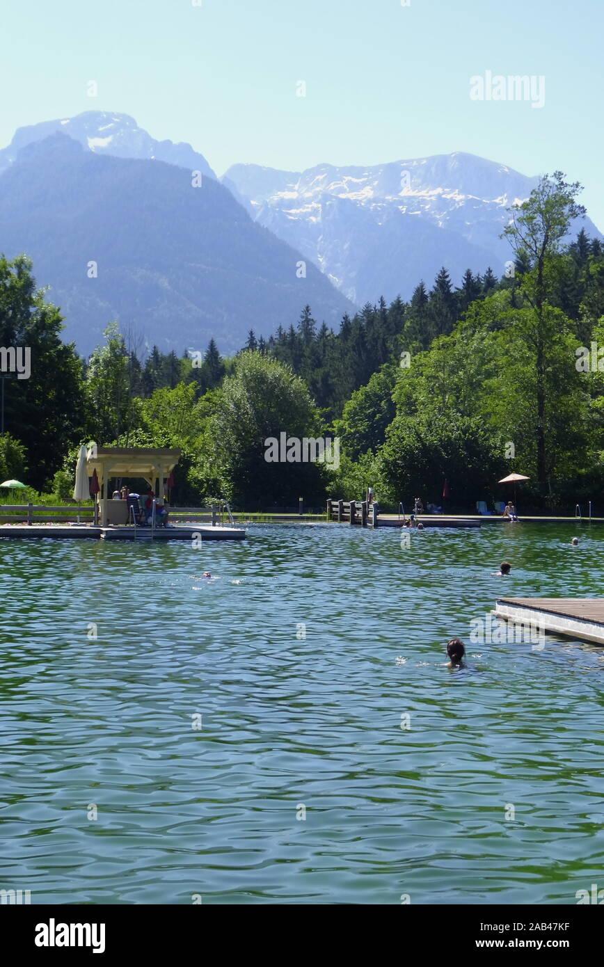Naturbad Aschauer Weiher Stock Photo