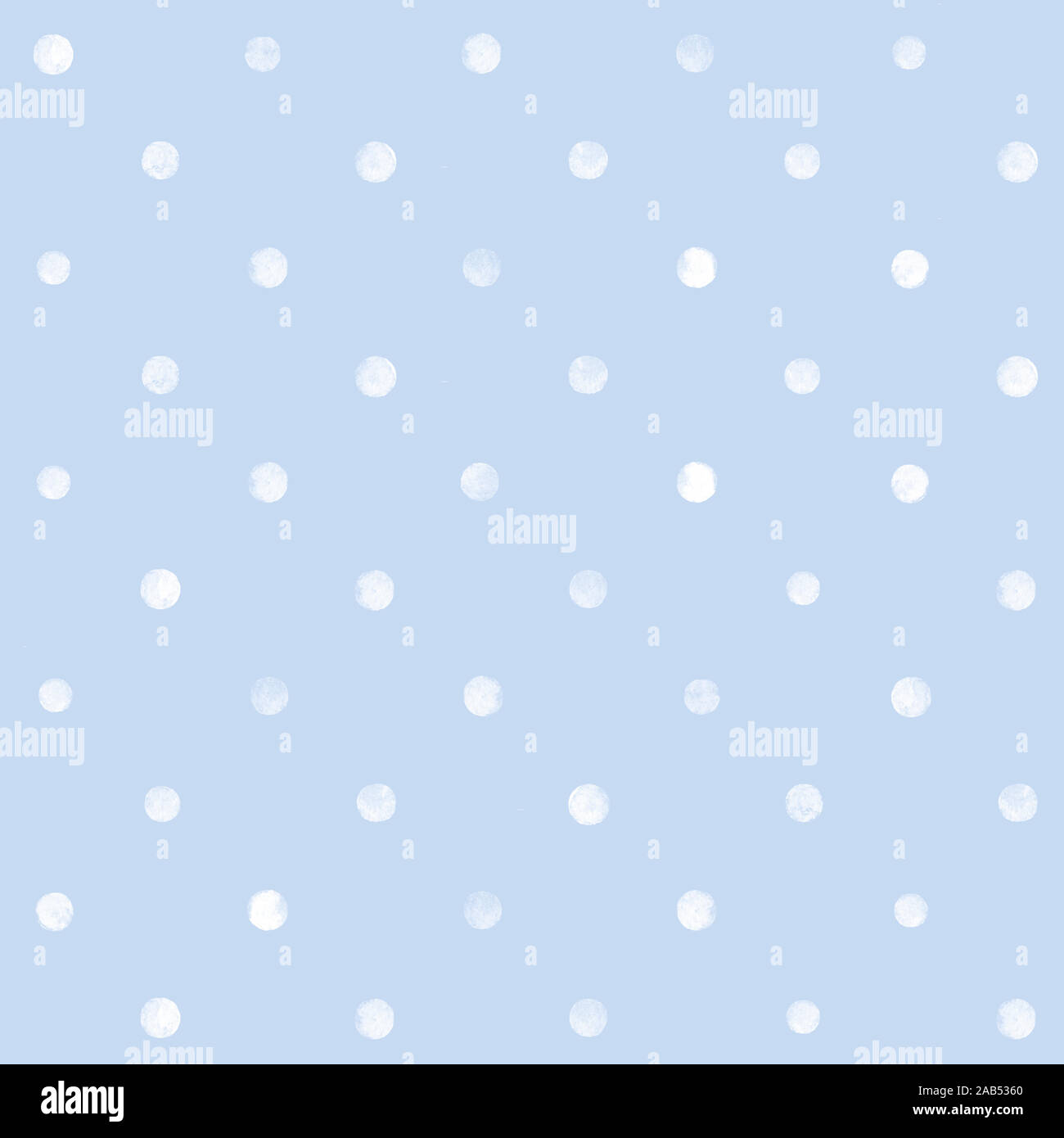 Seamless pattern. White circles. Blue background. Watercolor. Print quality Stock Photo