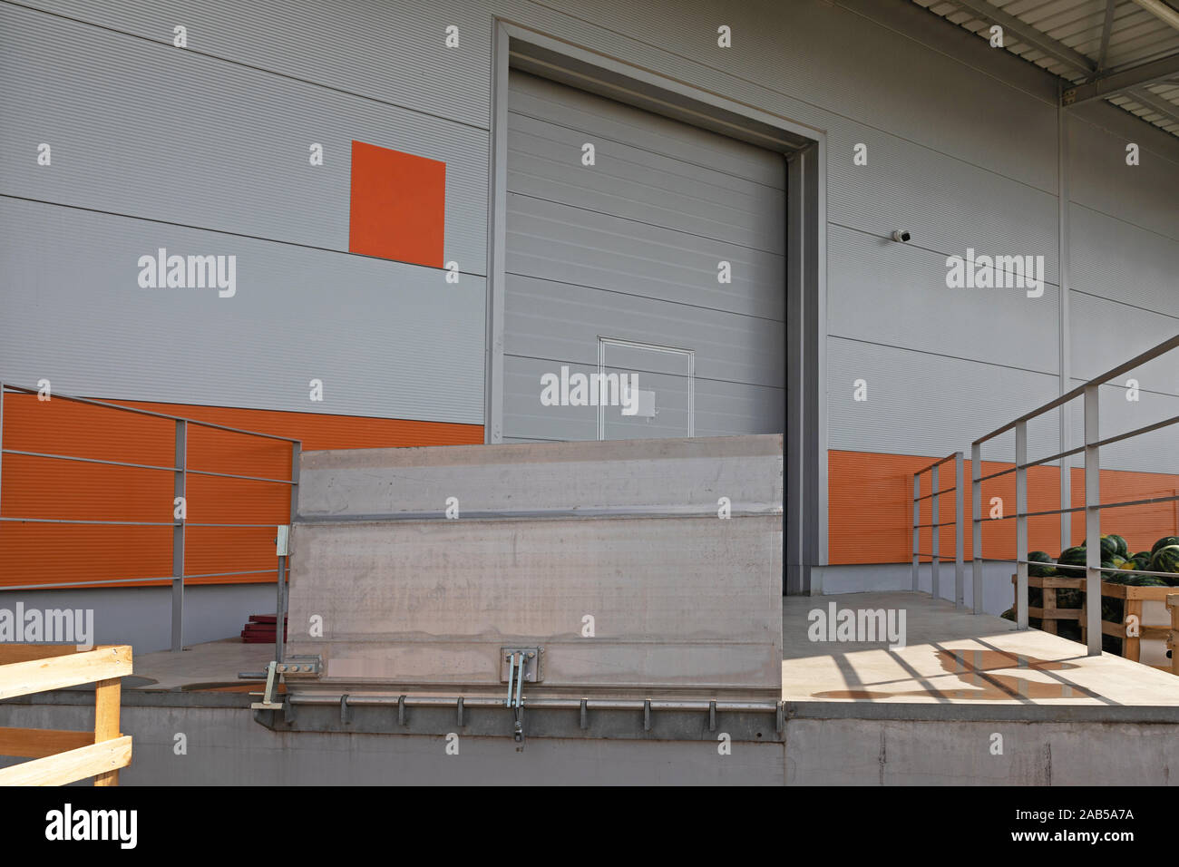 Loading Dock With Metal Ramp at Warehouse Stock Photo ... on warehouse construction types, warehouse interior, warehouse homes, warehouse personnel, construction designs, warehouse furniture, retail designs, warehouse full of cars, warehouse architecture, warehouse layout, warehouse equipment, warehouse design ideas, warehouse ceiling, warehouse shopping, warehouse shipping area, timber designs, warehouse organization, warehouse heavy smoke, warehouse expansion, warehouse insulation,