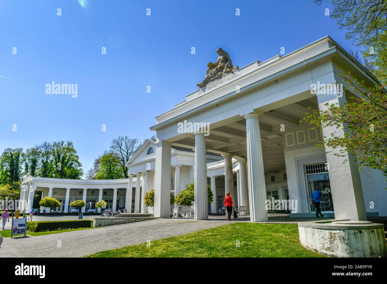 Wandelhalle, Kurpark, Bad Oeynhausen, Nordrhein-Westfalen, Deutschland Stock Photo