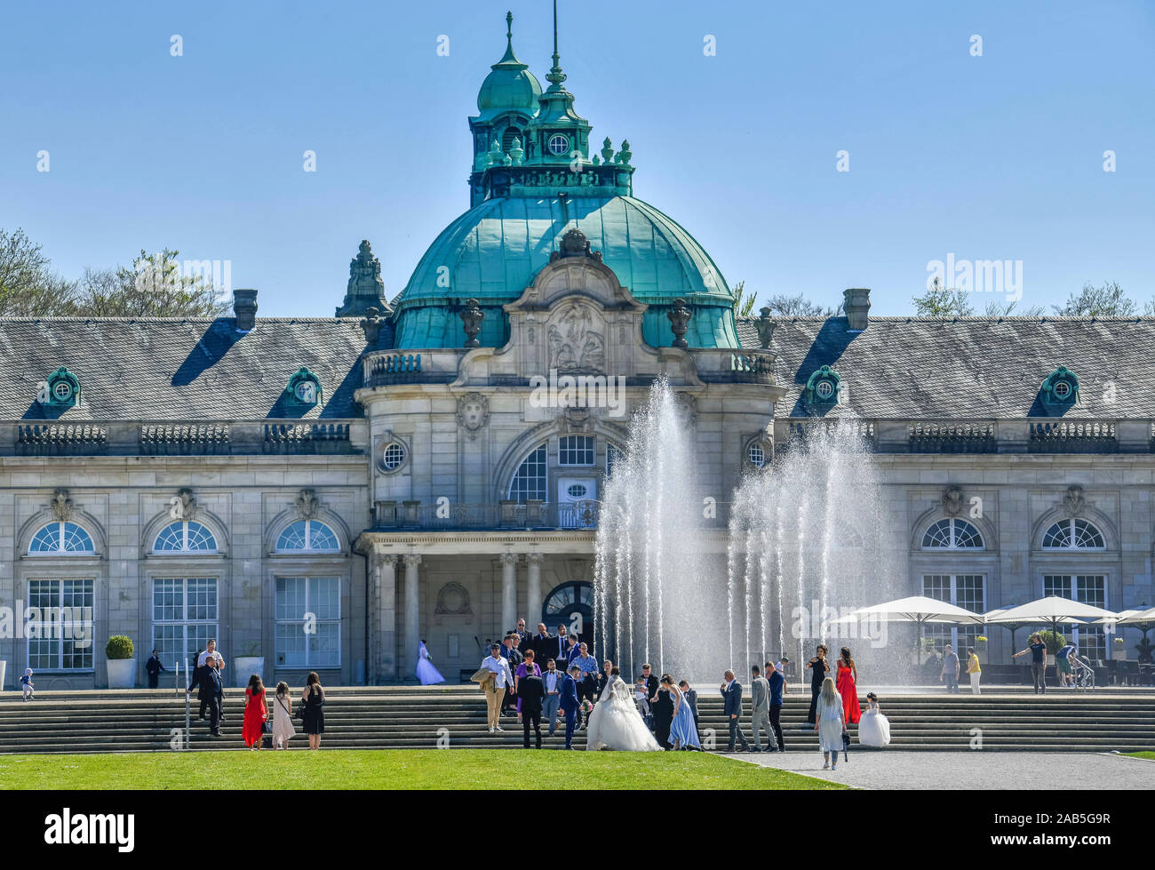 Kaiserpalais, Kurpark, Bad Oeynhausen, Nordrhein-Westfalen, Deutschland Stock Photo