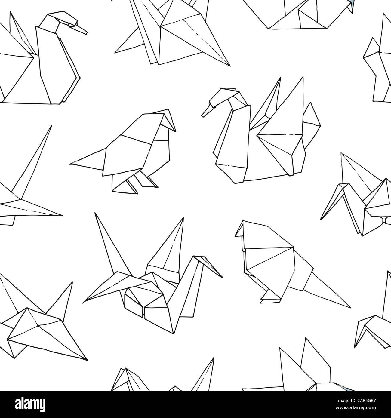 best drawn paper crane - Google Search | Paper crane tattoo, Crane ... | 1390x1300