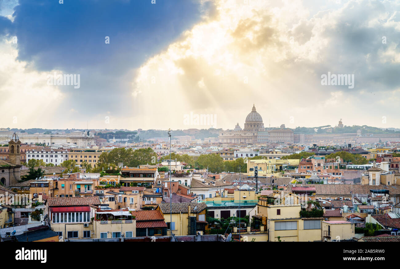 Terrazza Del Pincioiew Of Rome Skyline And St Peters