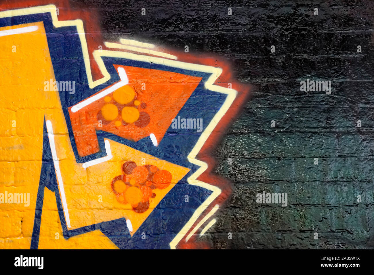 Schoene Graffity-Pfeile Stock Photo