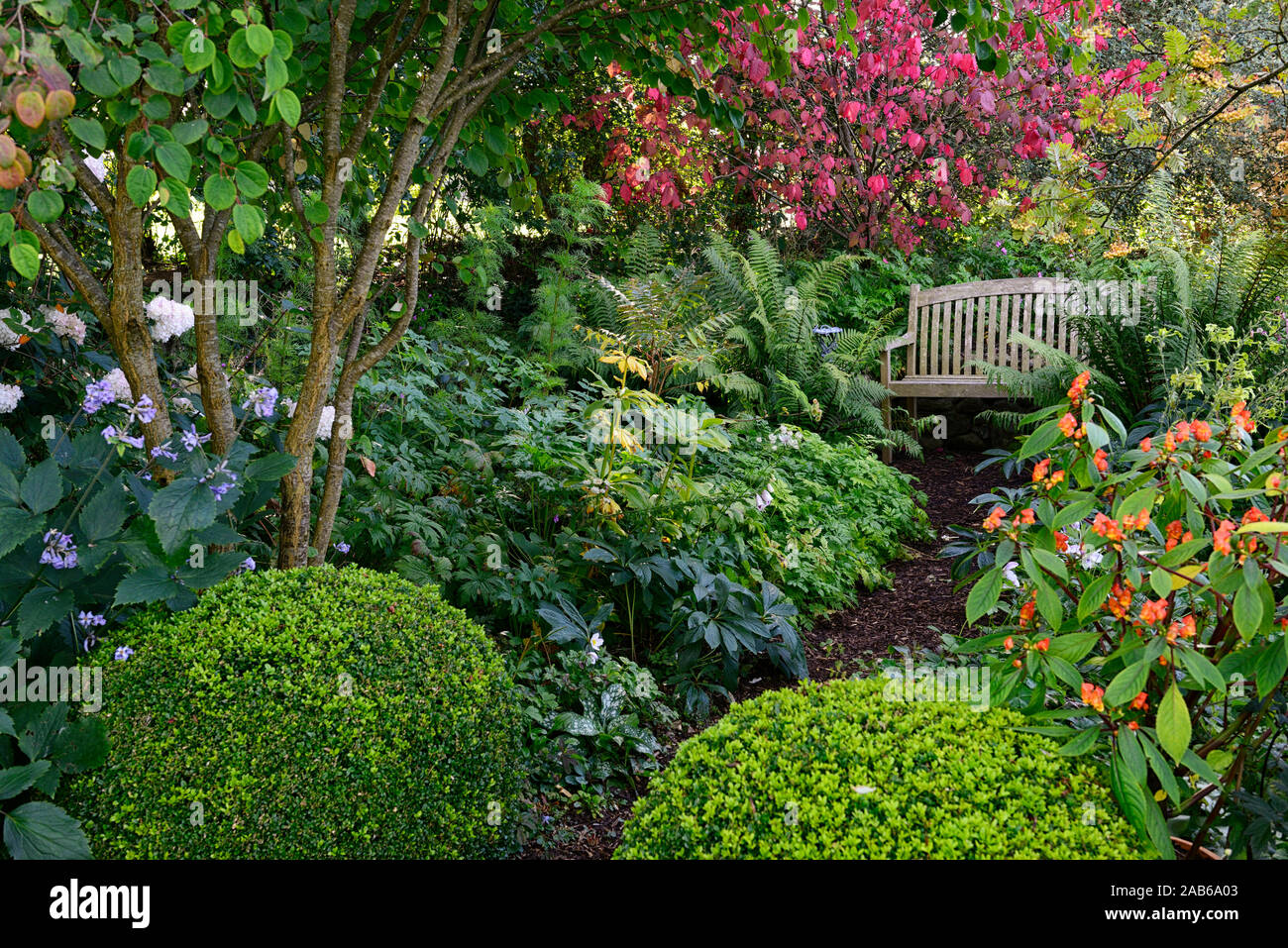 Shaded Garden Seat Stock Photos Shaded Garden Seat Stock Images