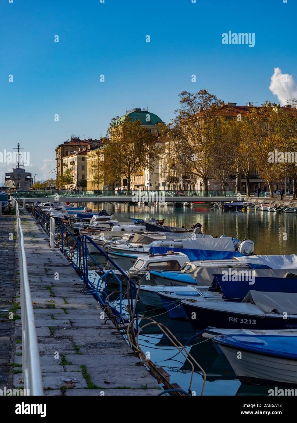 So called Death channel port facility in town Rijeka in Croatia Stock Photo