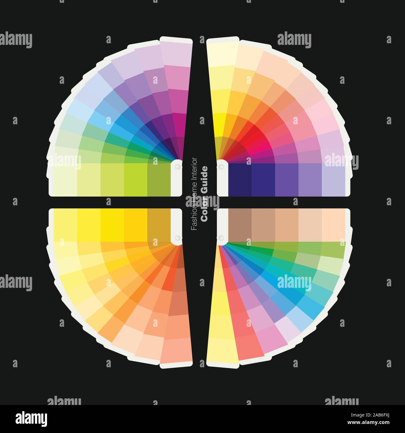 Illustration Of Color Palettes Guide For Fashion Home Interior Design Guide Book Vector Illustration Stock Vector Image Art Alamy