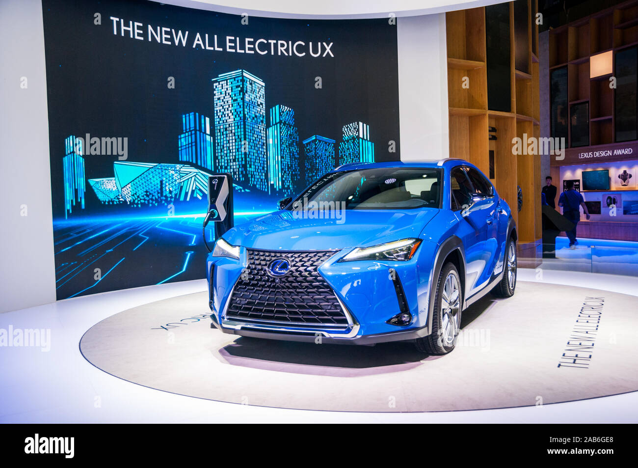 World Premiere Of The Lexus Ux Electric Suv At The 2019 Guangzhou Auto Show Stock Photo Alamy