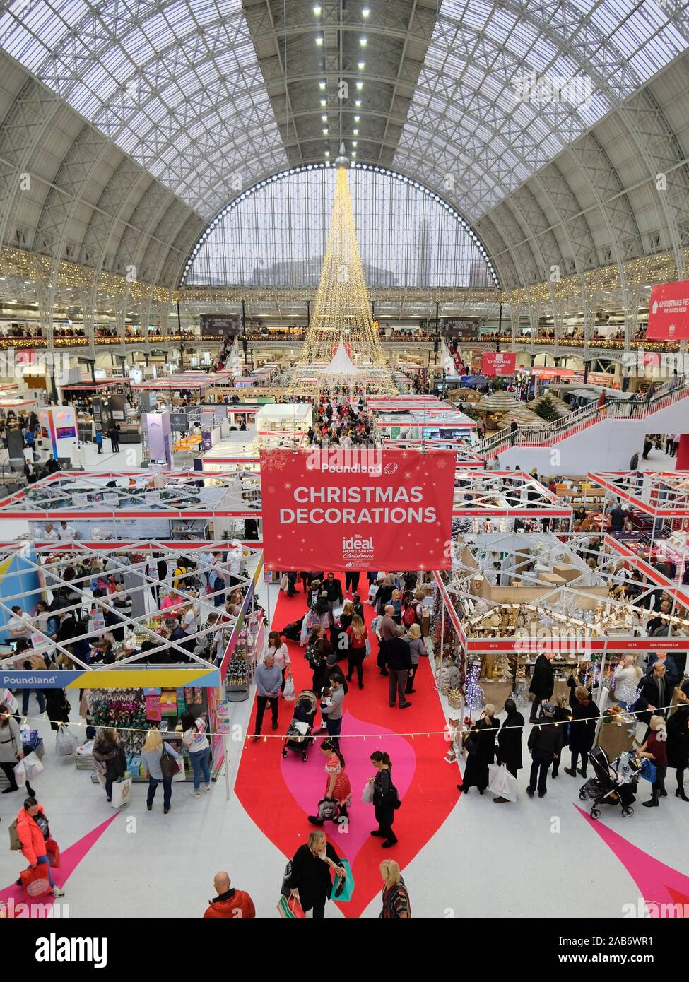 Ideal Home Show Christmas 2019 Was A Five Day Consumer Show Showcasing Goods For The Home It Is London S Longest Running Running Exhibition Show Stock Photo Alamy