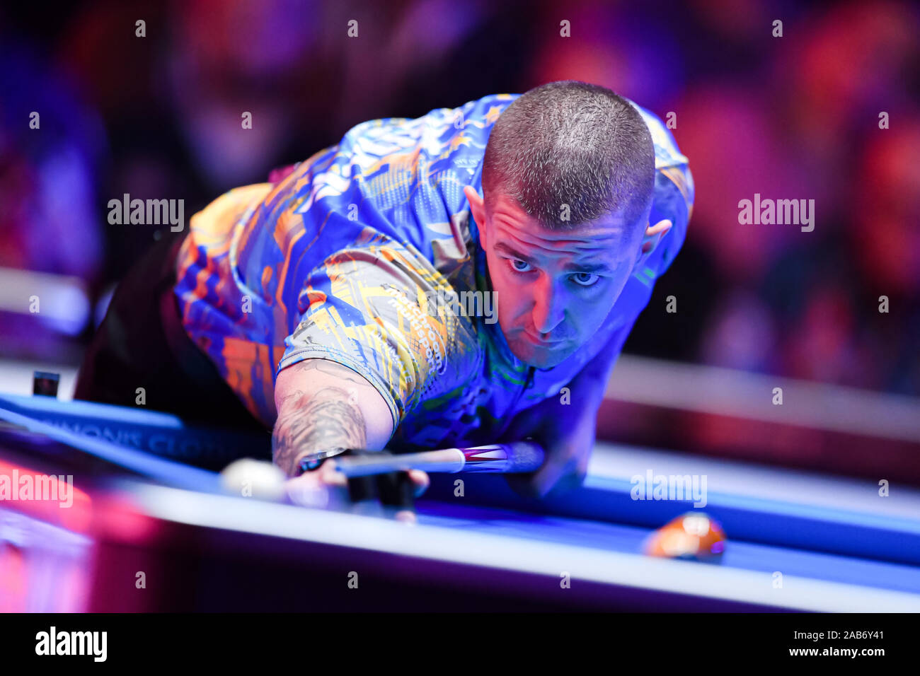 LAS VEGAS, USA. 26th Nov, 2019. Jayson Show during Day 1 Session of MOSCONI CUP XXVI at Mandalay Bay on Tuesday, November 26, 2019 in LAS VEGAS, USA. Credit: Taka G Wu/Alamy Live News Stock Photo