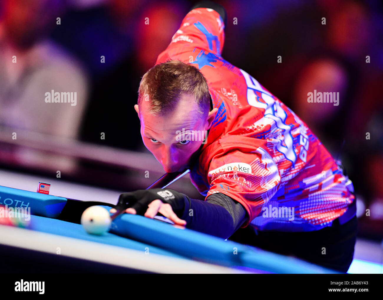 LAS VEGAS, USA. 26th Nov, 2019. Justin Bergman during Day 1 Session of MOSCONI CUP XXVI at Mandalay Bay on Tuesday, November 26, 2019 in LAS VEGAS, USA. Credit: Taka G Wu/Alamy Live News Stock Photo