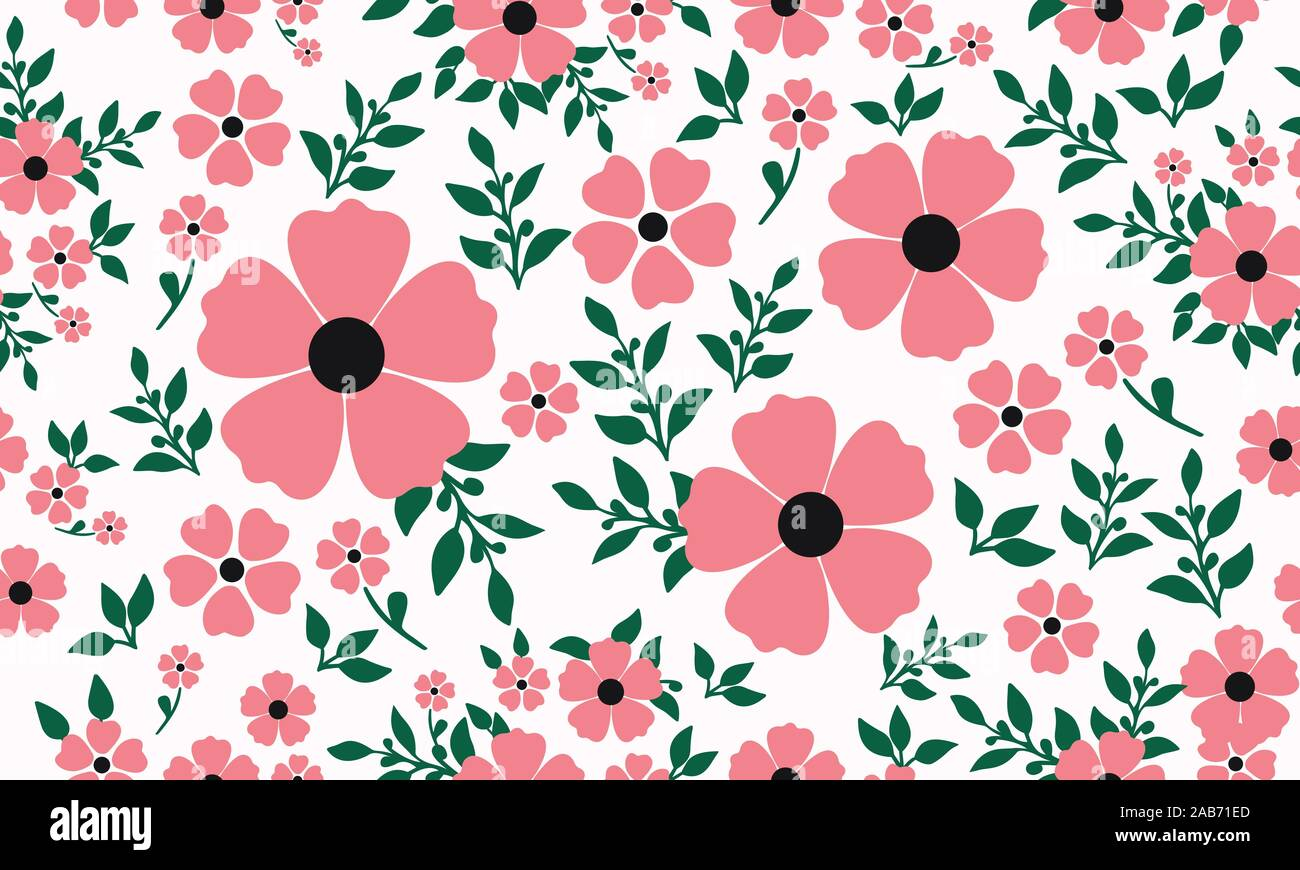 Classic Wallpaper Seamless Floral Pattern Background Valentine