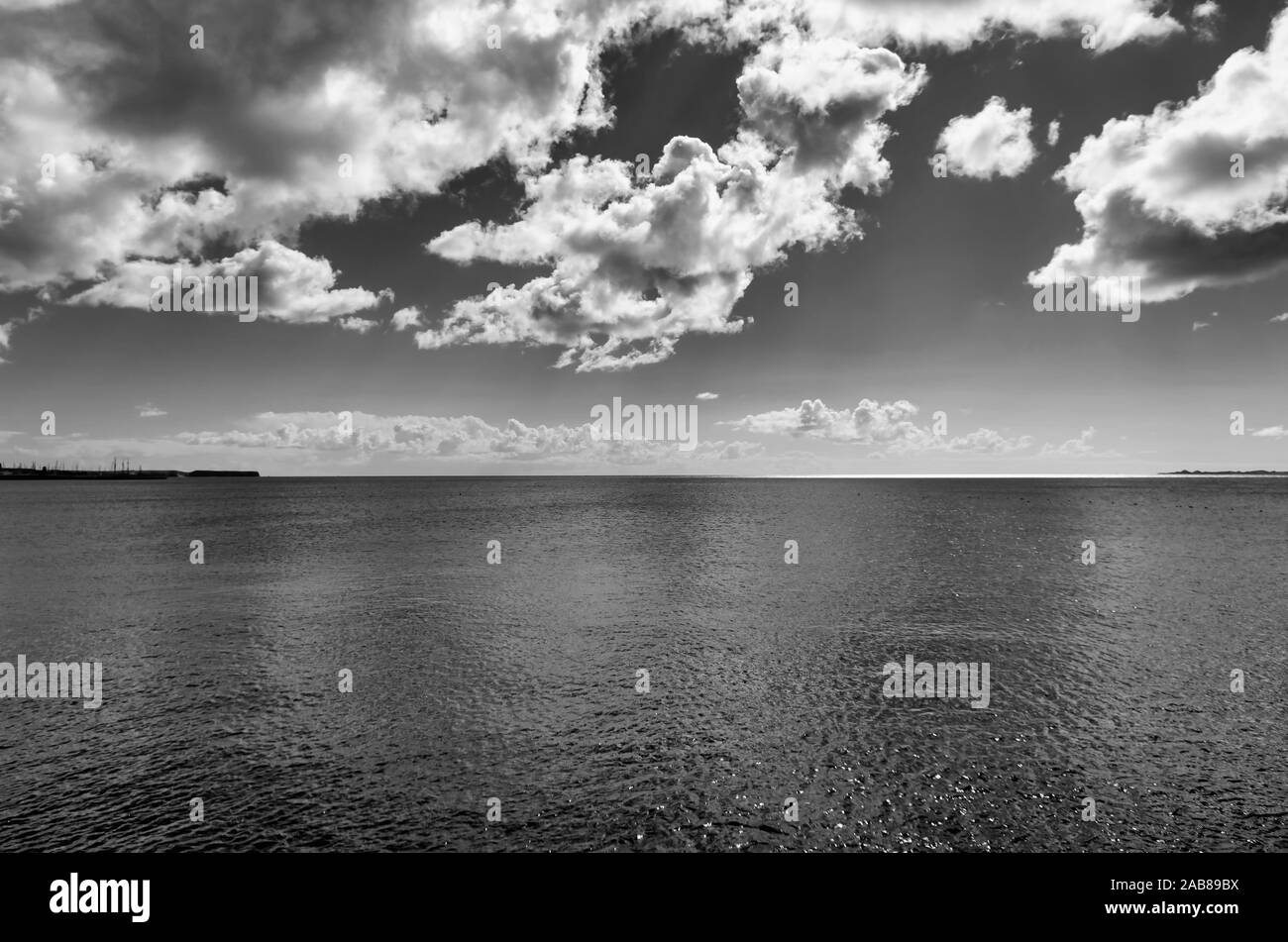 Scenic view of sea against sky. Stock Photo
