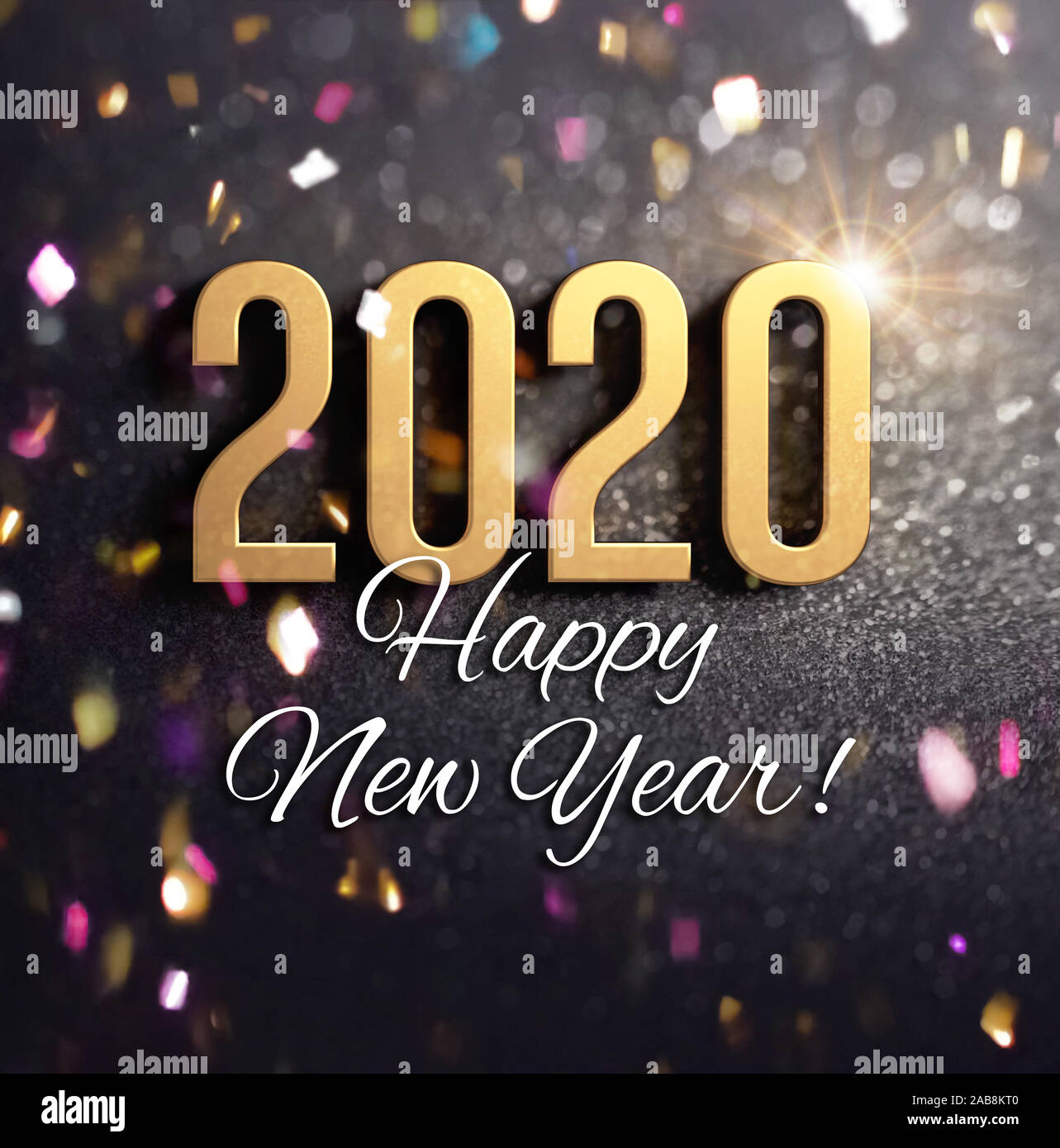 happy new year greetings and 2020 date number colored in gold on a festive black background with glitters and confetti 3d illustration stock photo alamy https www alamy com happy new year greetings and 2020 date number colored in gold on a festive black background with glitters and confetti 3d illustration image333949392 html