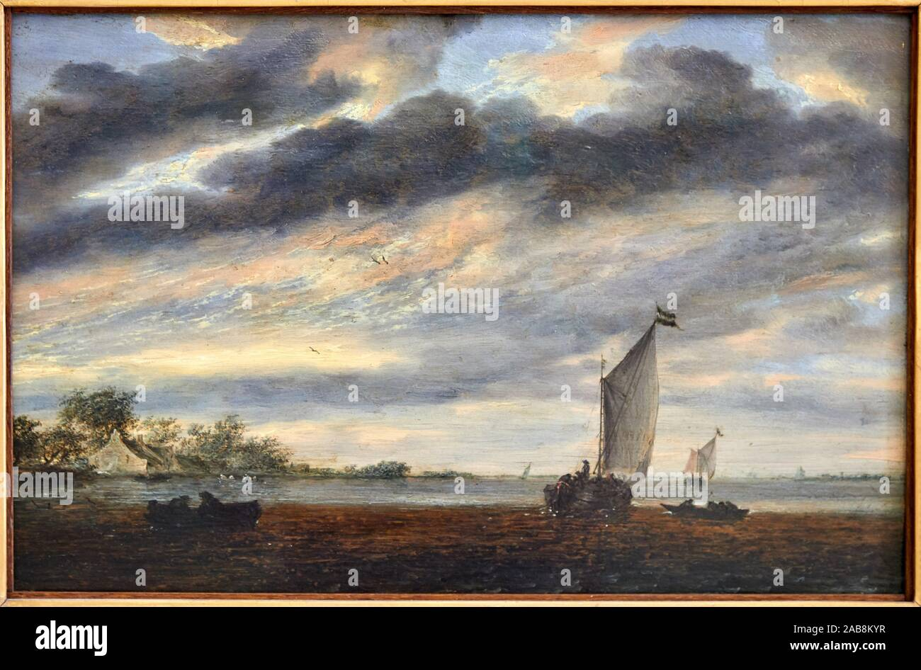 """""""La Marine d'or"""", 1665, Salomon van Ruysdael, Musée du Louvre, Paris, France, Europe Stock Photo"