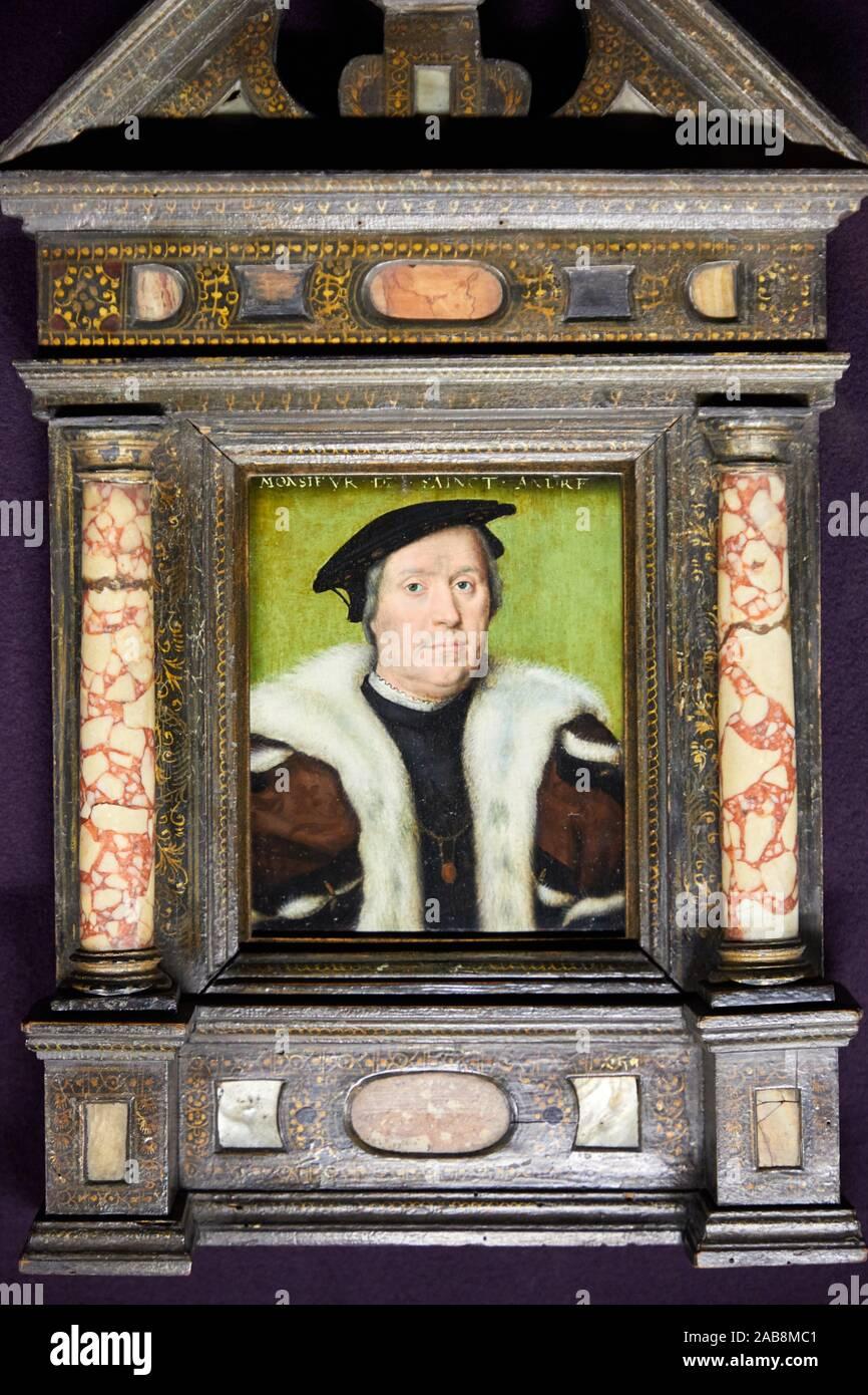 """""""""""""""Portrait of Jean d'Albon, Lord of Saint-André"""""""", 1550, Atelier de Corneille de Lyon, Musée du Louvre, Paris, France, Europe Stock Photo"""