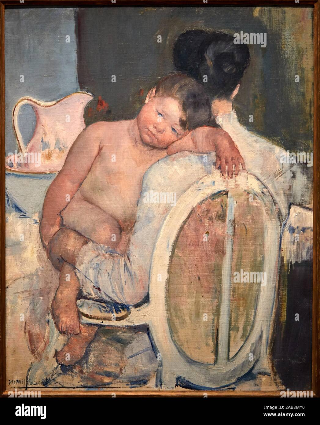 """""""Seated Woman with a Child in Her Arms"""", c. 1890, Mary Cassatt (1844-1926, Museo de Bellas Artes, Bilbao, Bizkaia, Basque Country, Spain Stock Photo"
