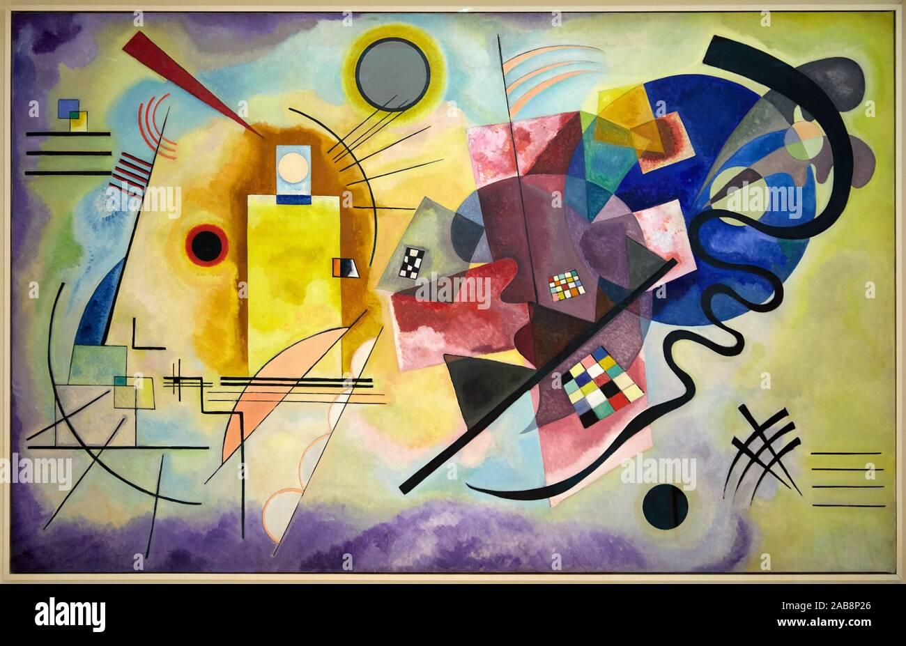 """""""Gelb-Rot-Blau"""", 1925, Vassily Kandinsky, Centre Pompidou, Paris, France, Europe Stock Photo"