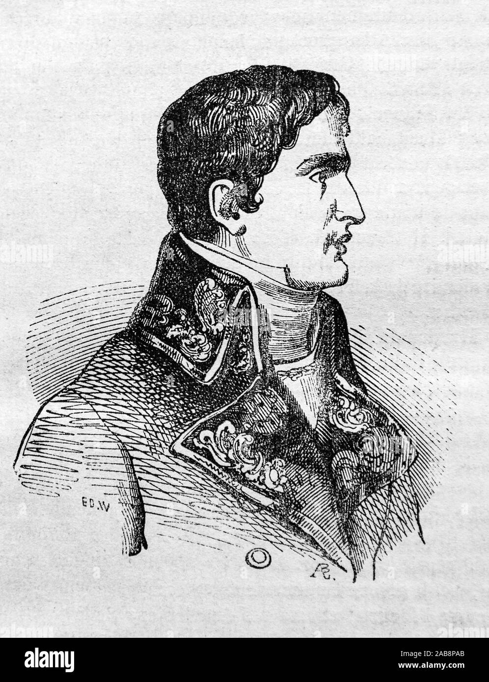 Lucien Bonaparte, Prince Français, 1st Prince of Canino and Musignano (born Luciano Buonaparte; 21 May 1775 – 29 June 1840), the third surviving son Stock Photo