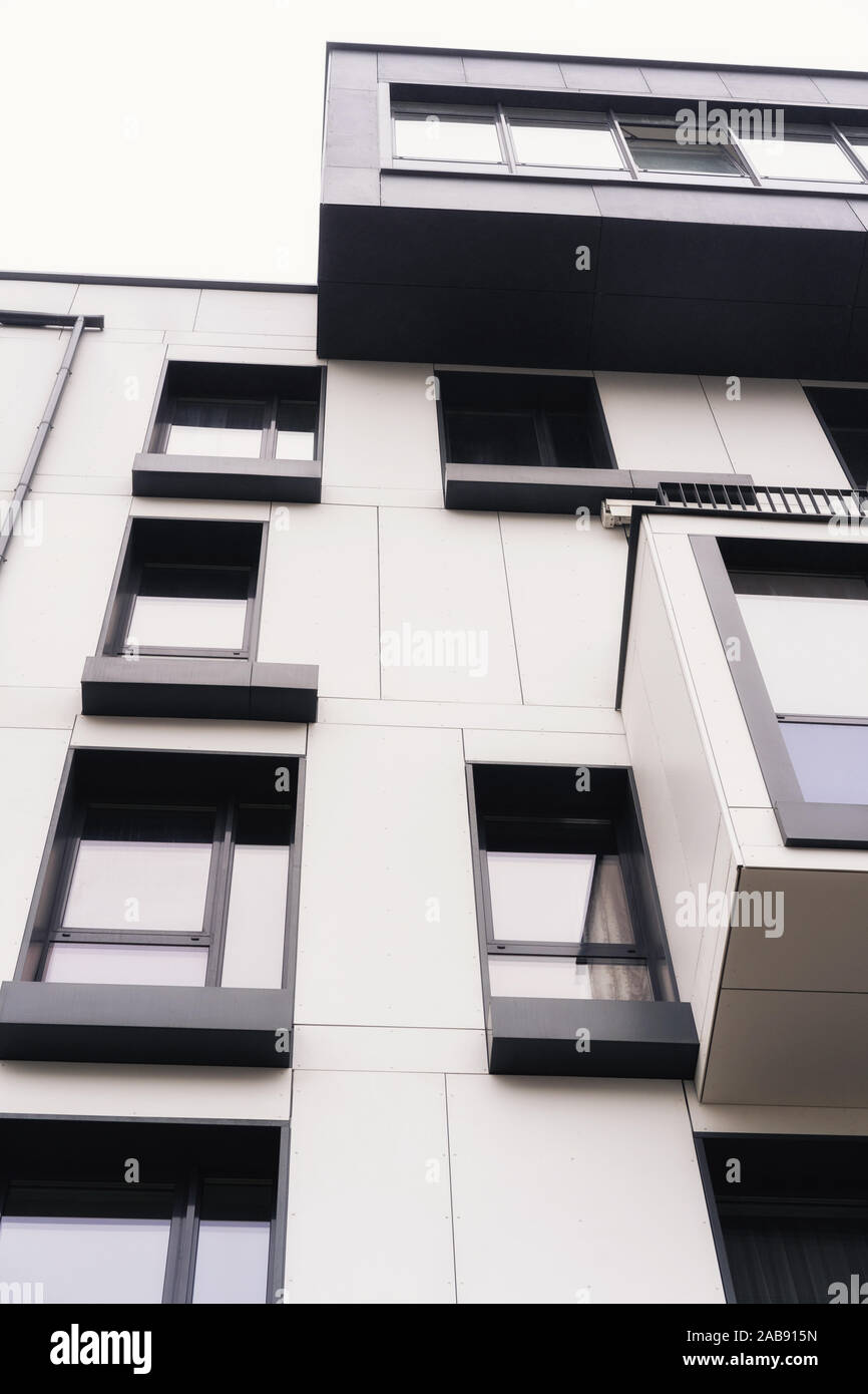 modern architecture. facade of an apartment building. Stock Photo