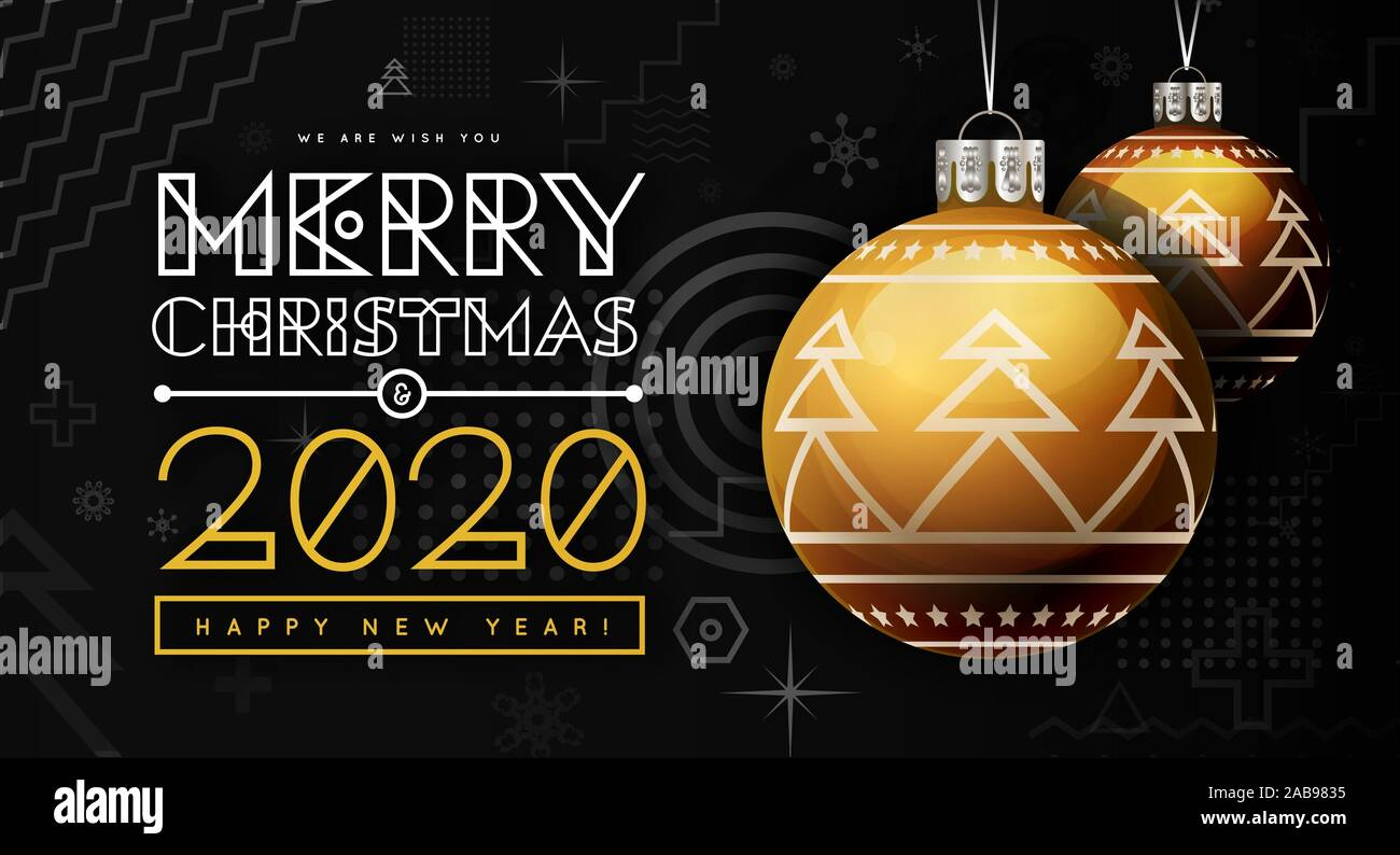 Christmas In Memphis 2020 Congratulations on New Year 2020 and Christmas with golden