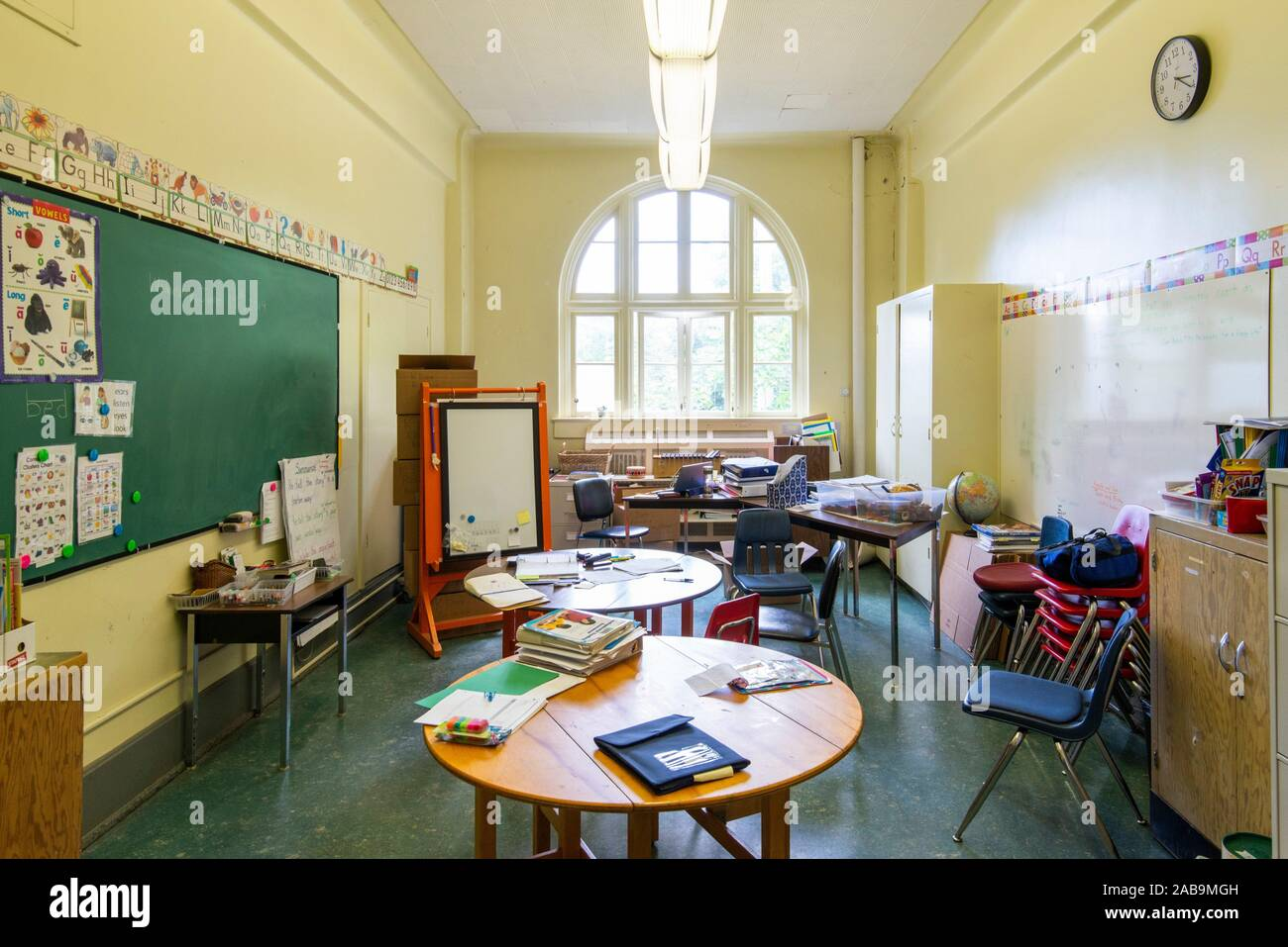 Interior Of An Elementary School In Vancouver Bc Canada Stock Photo Alamy