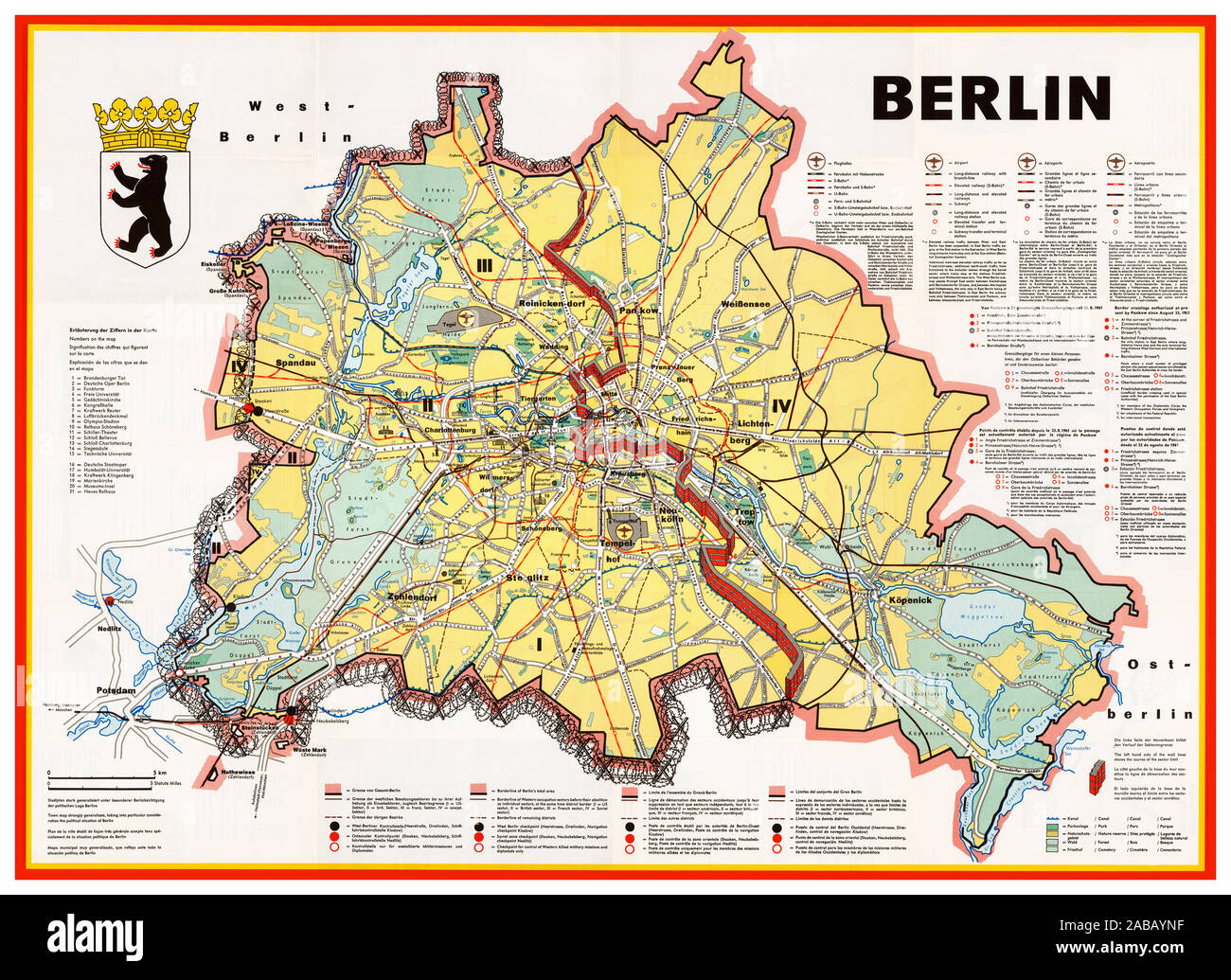 Berlin Map Stock Photos Berlin Map Stock Images Alamy