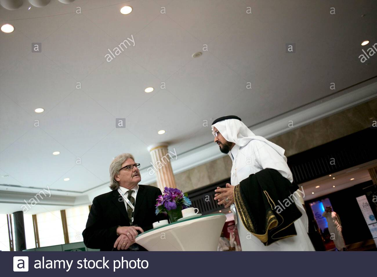 Delegates at the FIKR conference 2007 in Manama, Bahrain. Stock Photo