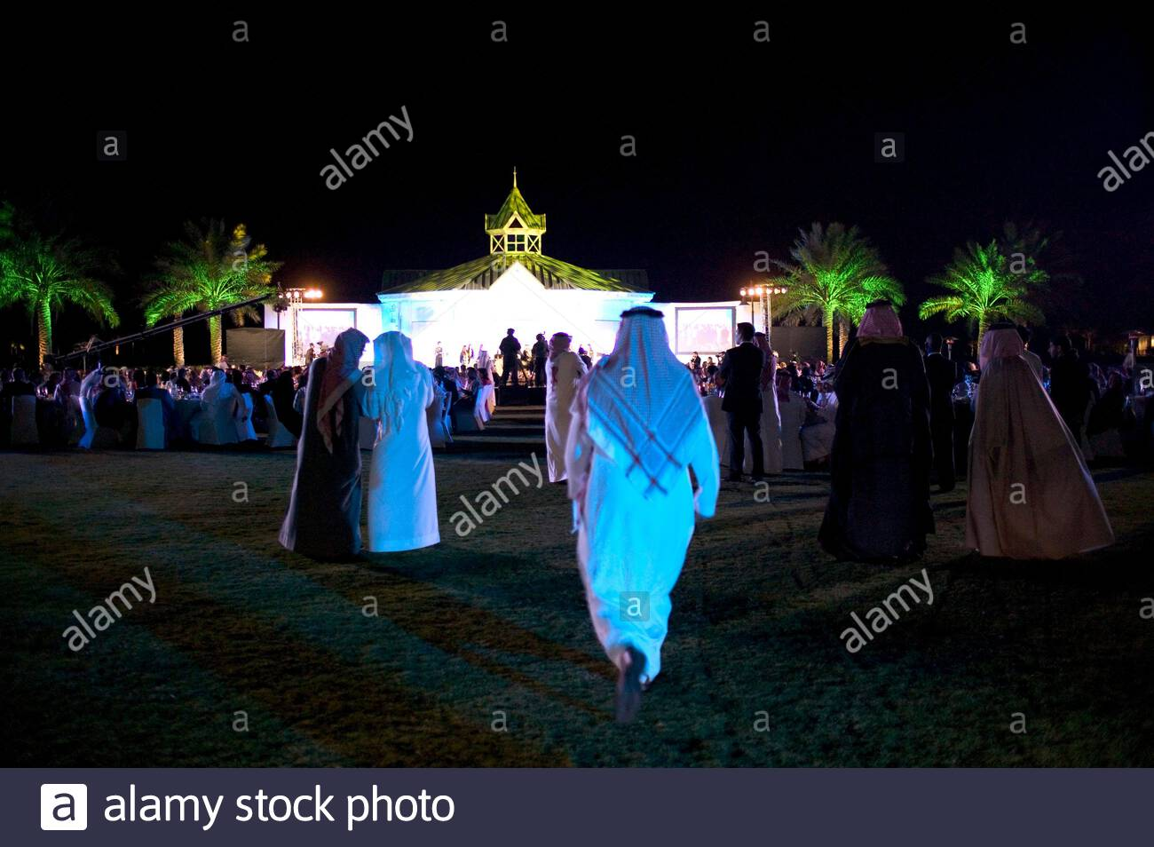 The closing night of FIKR conference 2007 in Manama, Bahrain. Stock Photo