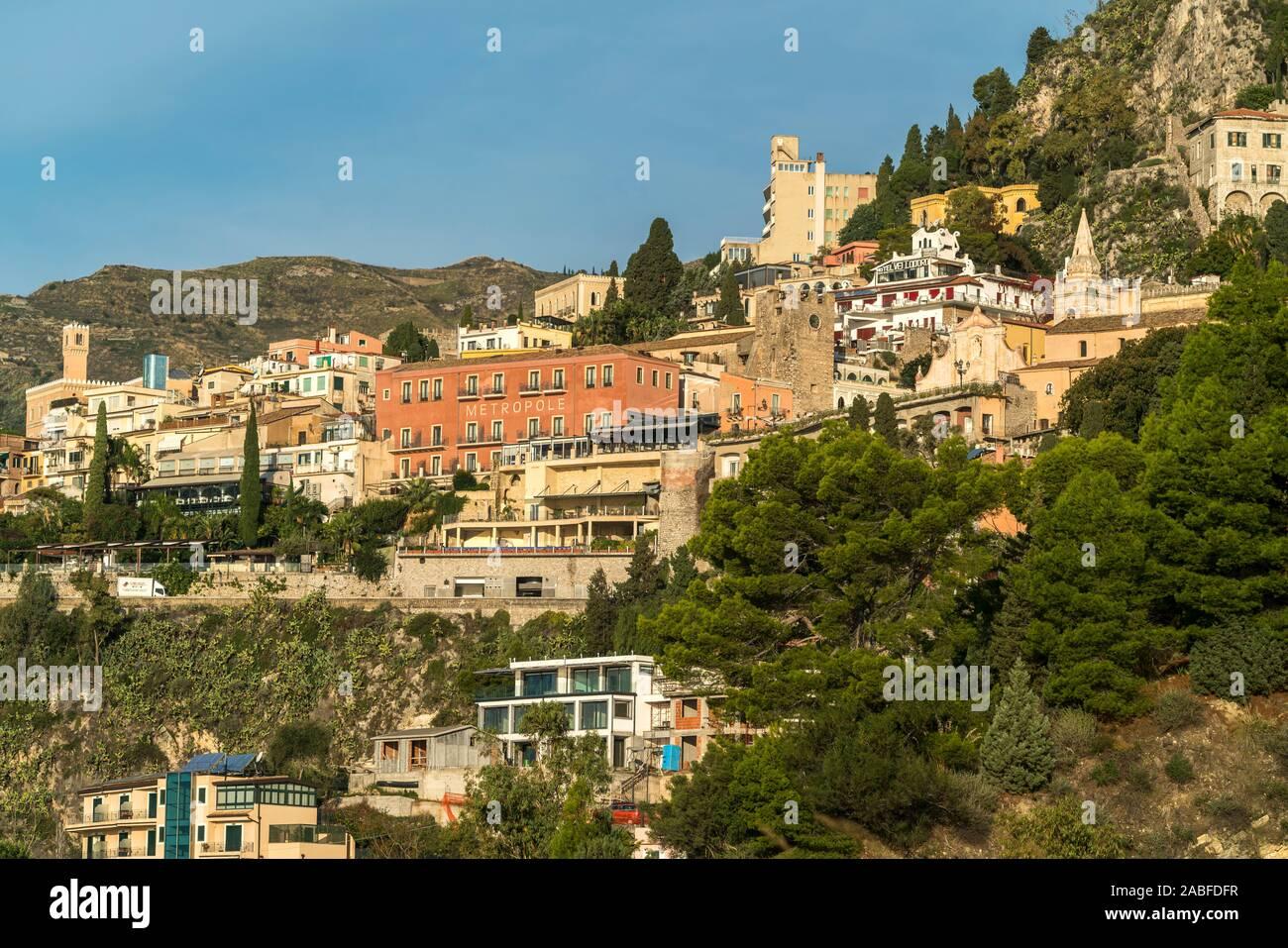 Taormina, Sizilien, Italien, Europa  |  Taormina, Sicily, Italy, Europe Stock Photo