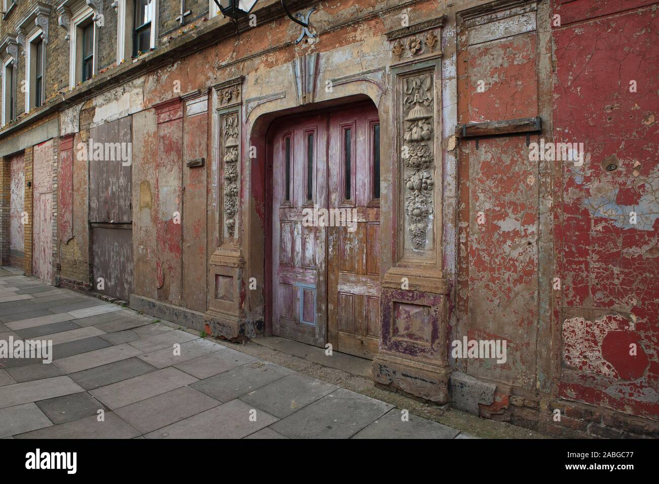 Wilton's Music Hall, Graces Alley (off Ensign Street), London, E1 8JB, U.K.  Wilton's Music Hall is a Grade II listed building in Shadwell, built as a Stock Photo