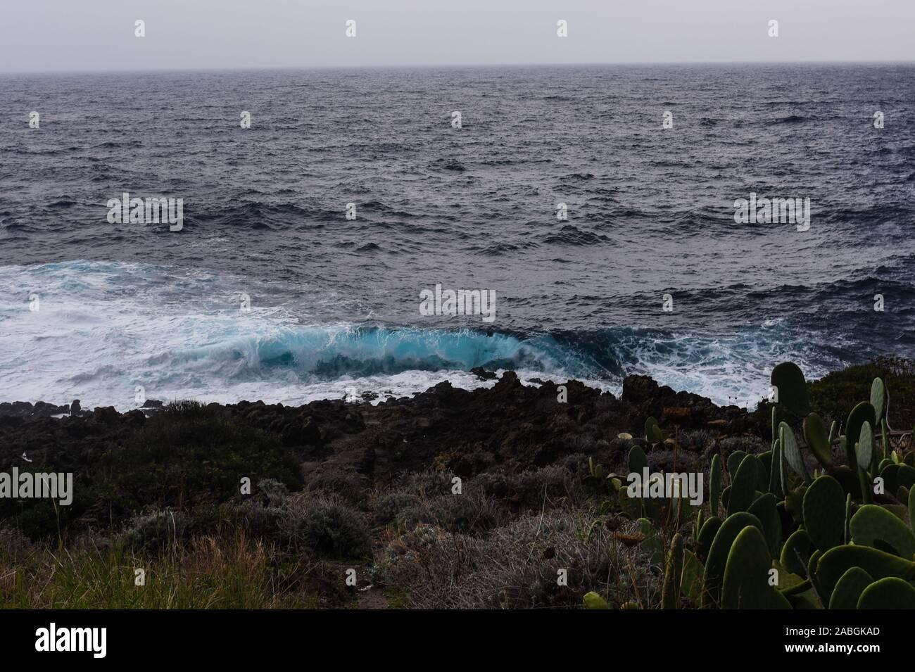 Stormy Sea in Pantelleria Stock Photo