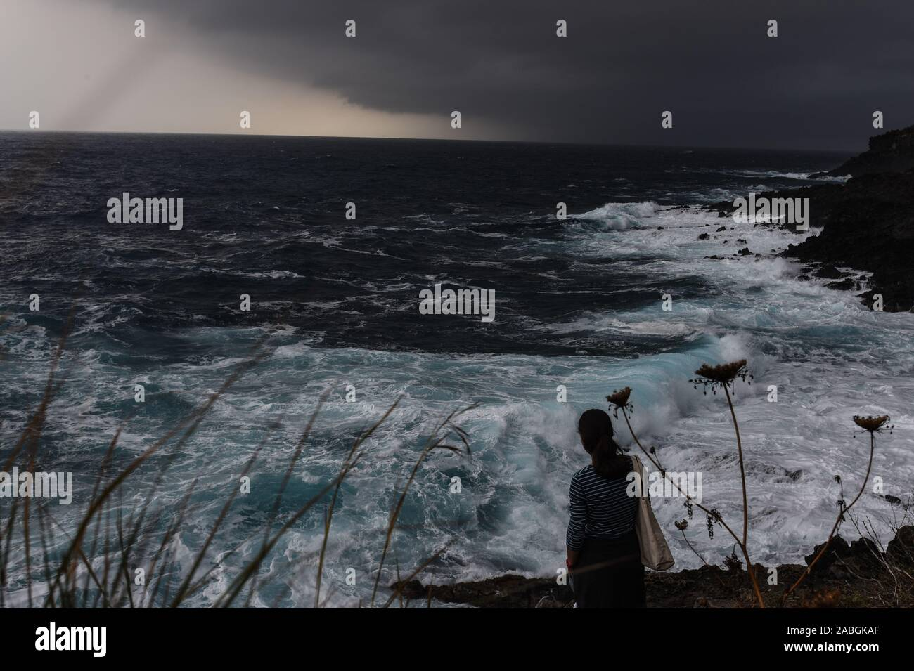 Stormy Sea in Pantelleria Stock Photo