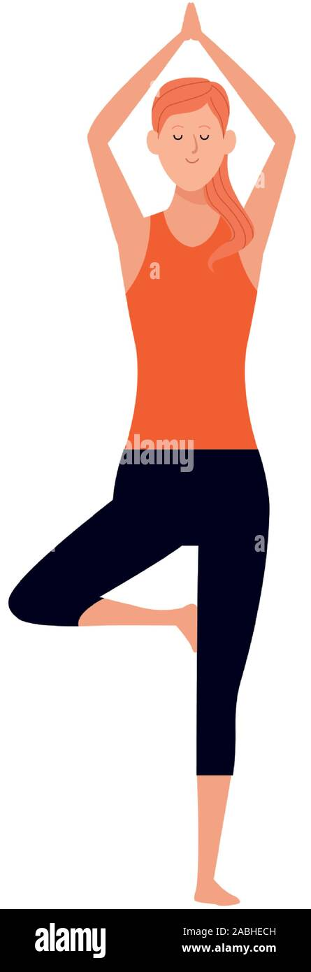 Yoga Tree Pose Cartoon High Resolution Stock Photography And Images Alamy C4d 3ds dae dxf fbx obj wrl oth. https www alamy com cartoon woman doing yoga tree pose icon flat design image334142721 html
