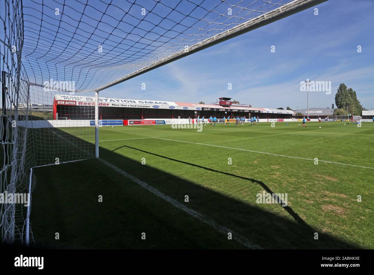 General view of the ground during Dagenham & Redbridge vs Hartlepool United, Vanarama National League Football at the Chigwell Construction Stadium on Stock Photo