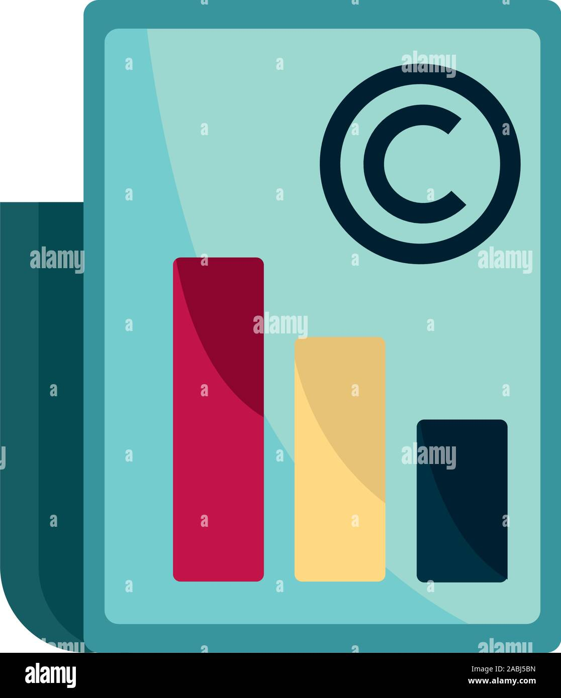 diagram document property intellectual copyright icon vector illustration Stock Vector