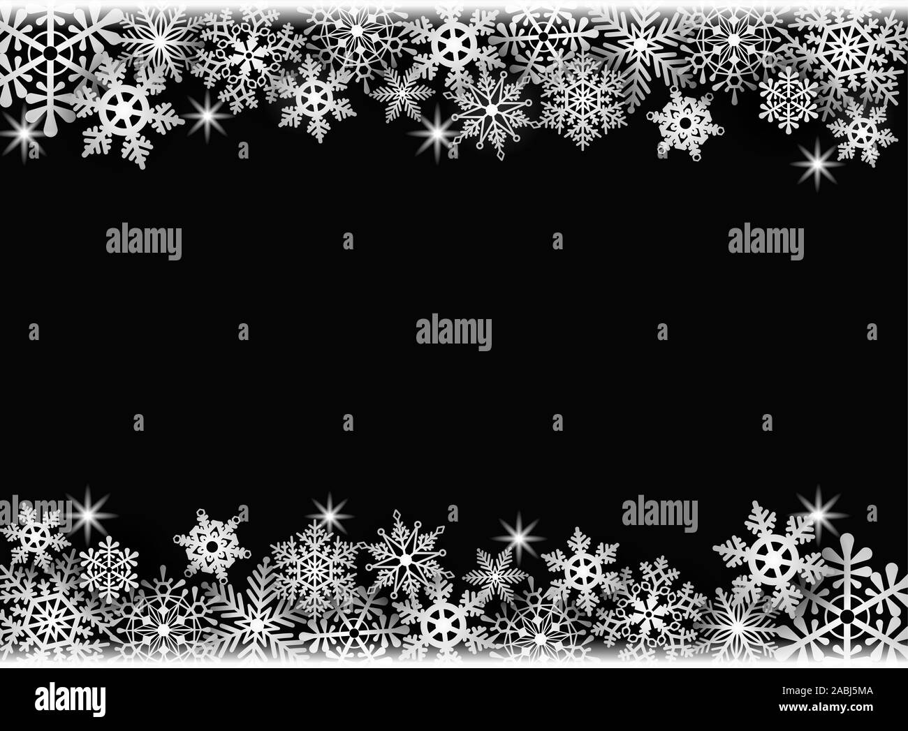 christmas background frame with snowflakes 2ABJ5MA