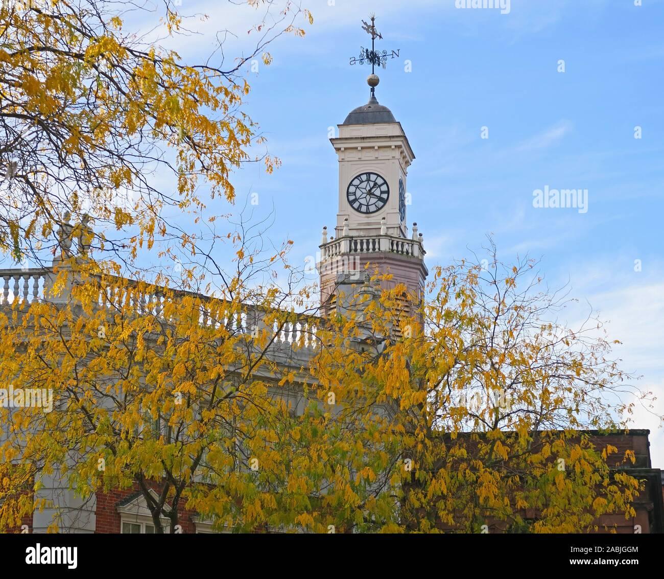 Holy Trinity Church, chapel of ease,Market Gate, Sankey St, Warrington, Cheshire, England, WA1 1XG, in autumn Stock Photo