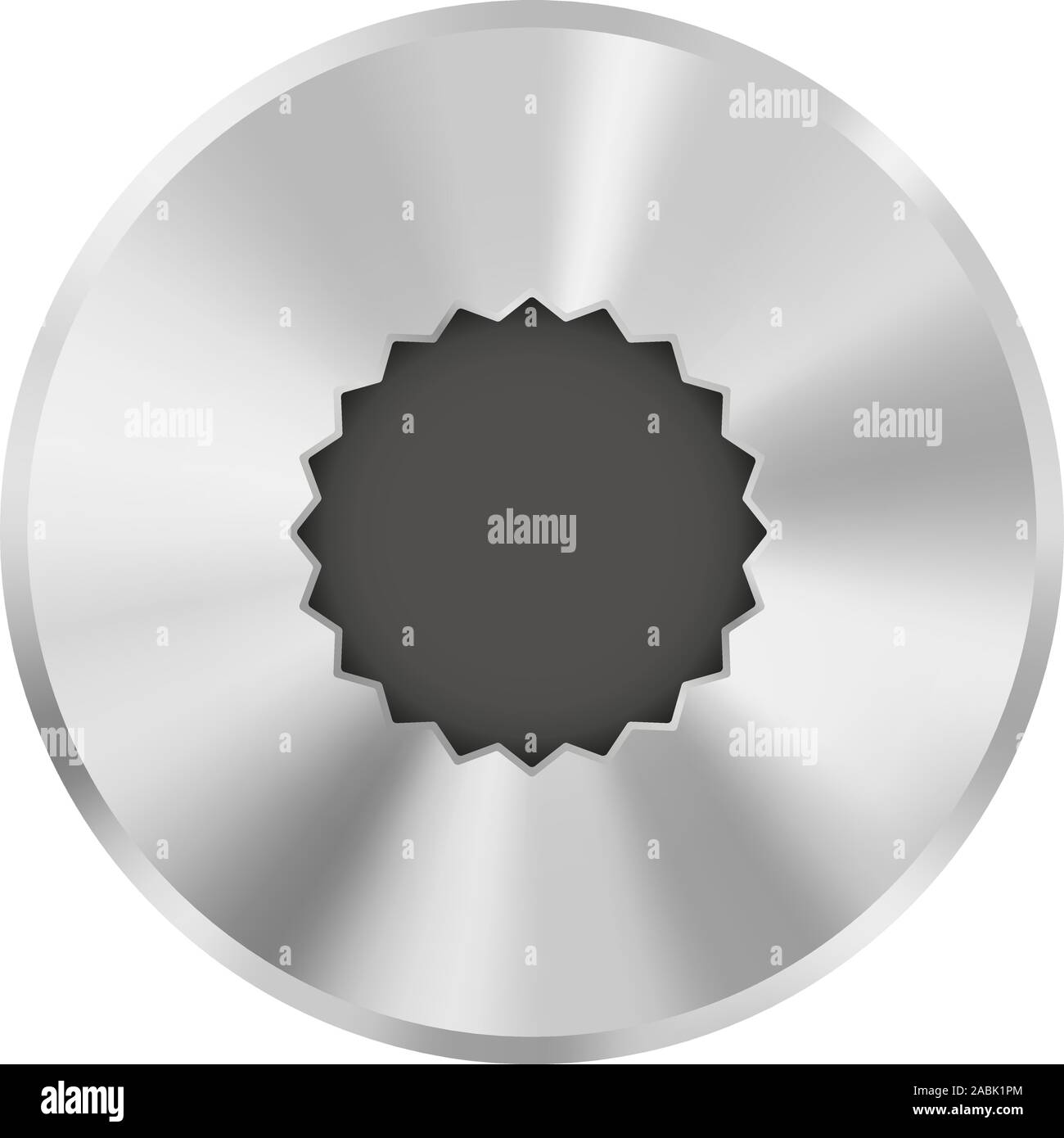 Metal bolt head Stock Vector