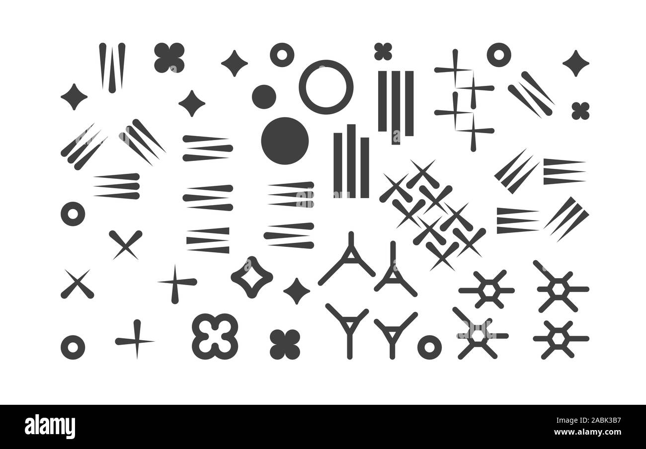 Set Of Abstract 1980s Fashion Vector Elements For Memphis Design Modern Graphic Shapes Collection For Trendy Patterns Trendy Geometric Hipster Stock Vector Image Art Alamy