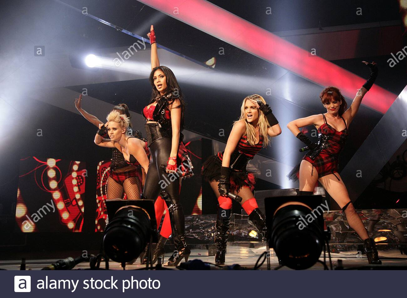 File photo dated 18/09/08 of The Pussycat Dolls performing at the Vodafone Live Music Awards 2008, at Brixton Academy, Brixton, London. The group have announced a reunion tour of the UK and Ireland in April 2020 - 10 years since their split. Stock Photo