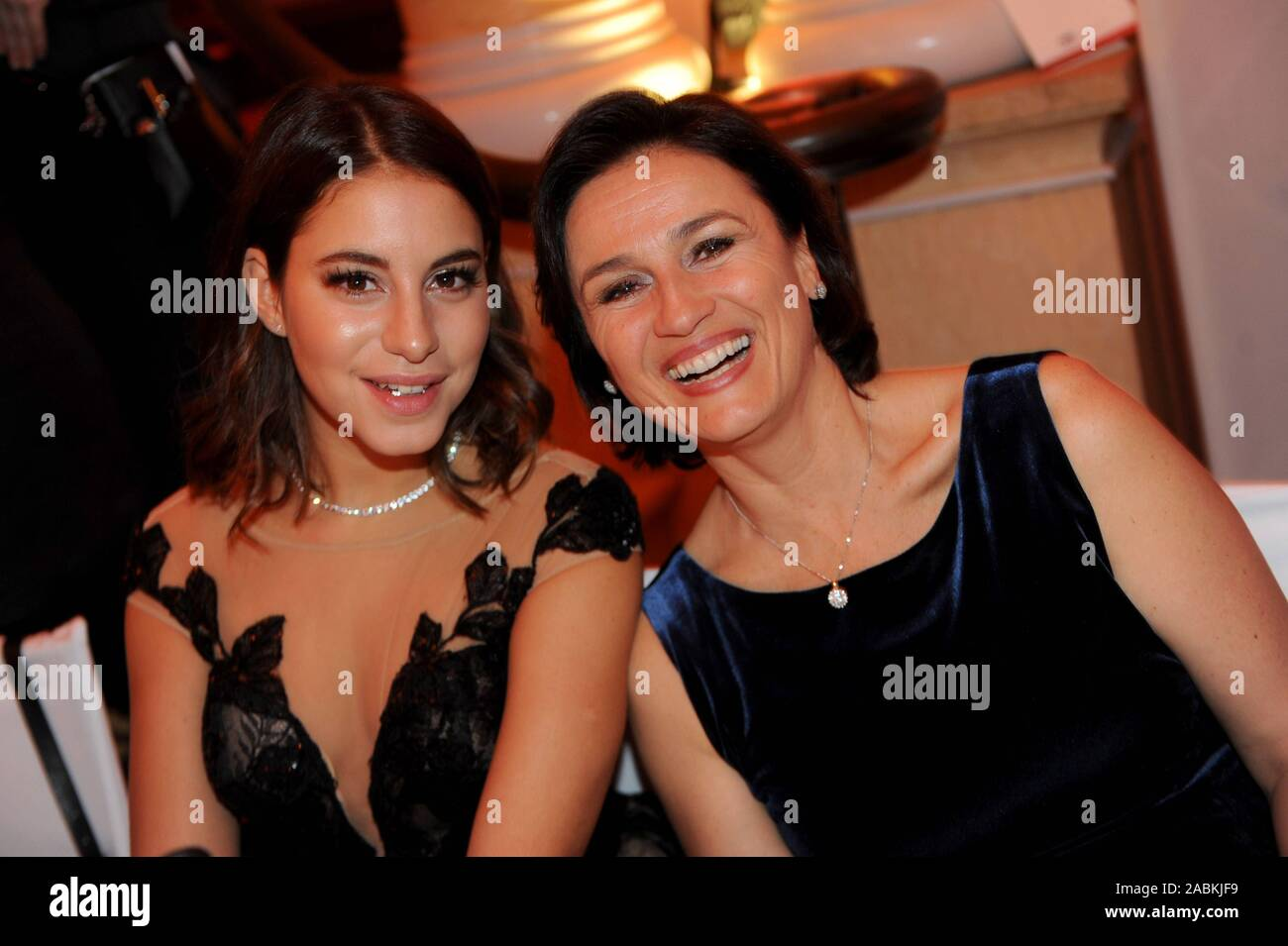 Sandra Maischberger (r.) at the 46th German Film Ball at the Hotel Bayerischer Hof in Munich. [automated translation] Stock Photo