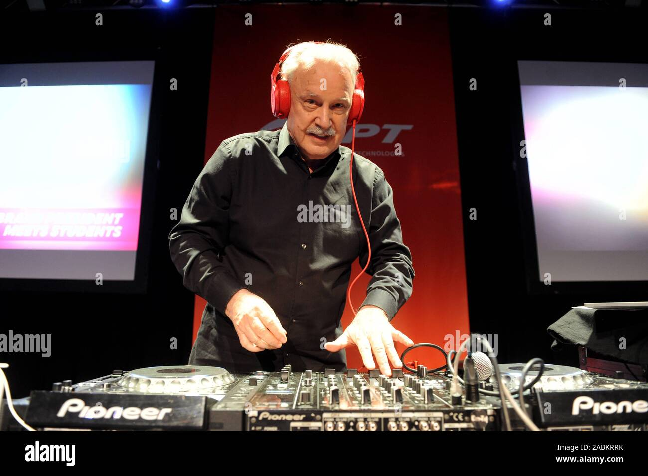 The Italian music producer and composer Giorgio Moroder plays at the FPT Industrial Event in the Technikum München. [automated translation] Stock Photo