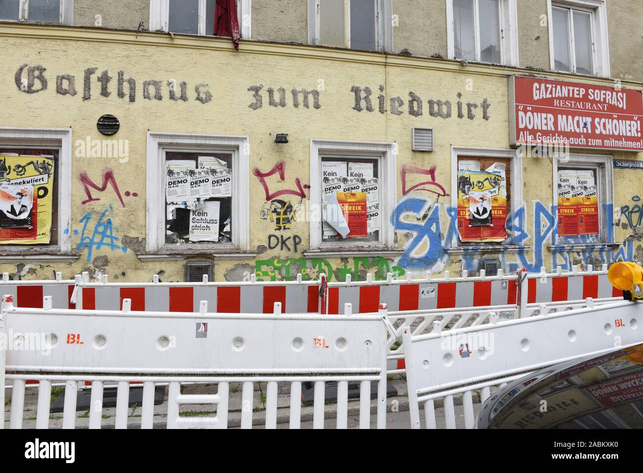 The property at Schwanthalerstrasse 119 in Munich is being forced to sell today. It's been empty for a long time and it's pretty run-down. [automated translation] Stock Photo