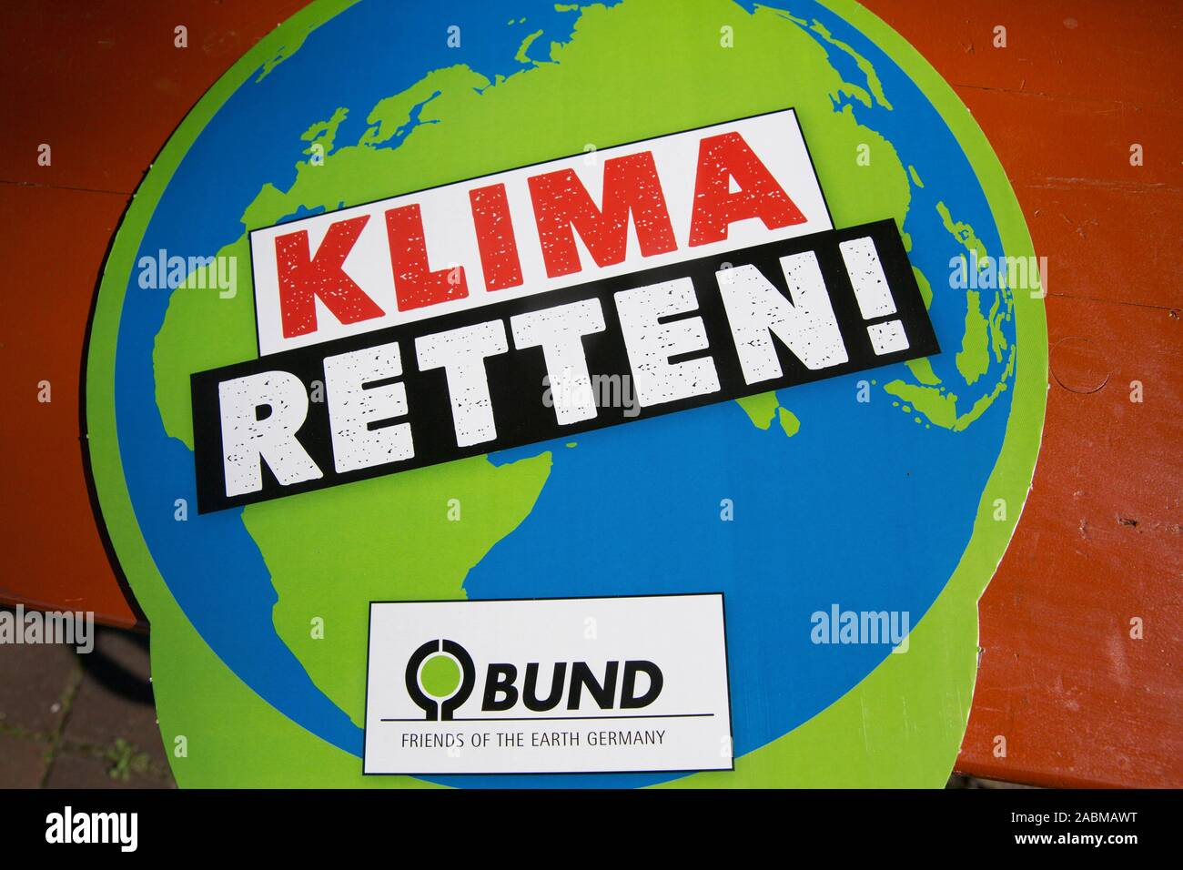 """""""Fridays for Future"""" Demonstration for the worldwide climate protest day under the motto """"Five to twelve"""" at the Stadthalle Germering. [automated translation] Stock Photo"""